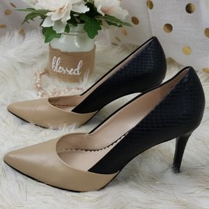 Audrey Brooke Two Tone Heels